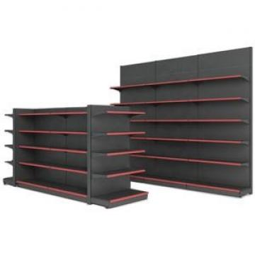 Modern design steel structure double side wood gondola liquor store shelving for wine display