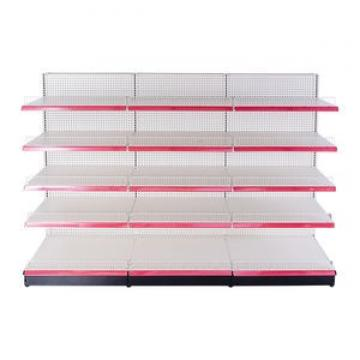 Shop racking convenience store retail metal gondola shelves supermarket shelving
